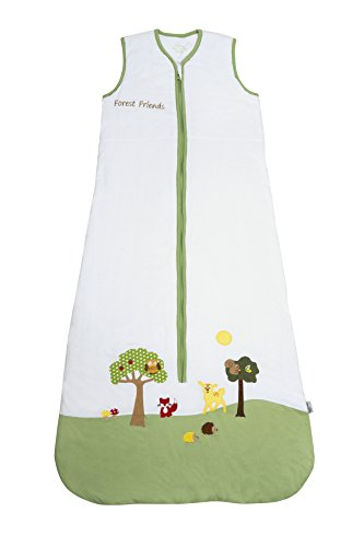 Slumbersac PREMIUM Sacco a pelo per bambini per tutte le stagioni 2.5 Tog - Animali della foresta - 130 cm/3-6 anni