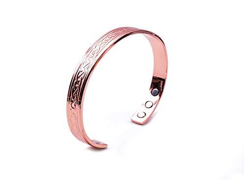 Pulsera de cobre para artritis Diseño celta con imanes, comúnmente worn para alivio del dolor