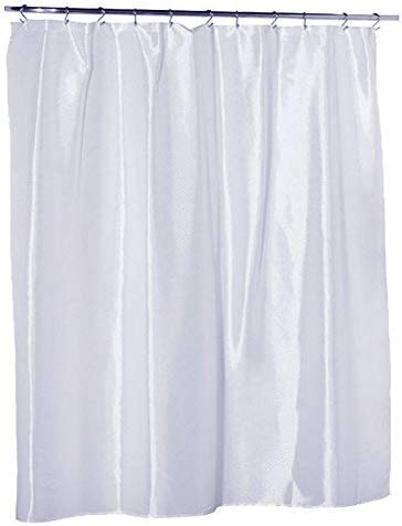 Waterproof Nylon - Mildew Resistant Fabric - Soft as Silk - Shower Curtain Liner, Extra Long - 70 Inch Wide x 96 Inch Long - White