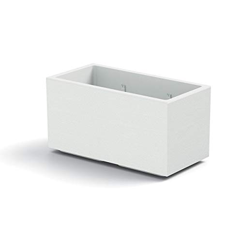 VECA SPA Vaso Fioriera Matheria da 100cm di Design Moderno (Bianco)
