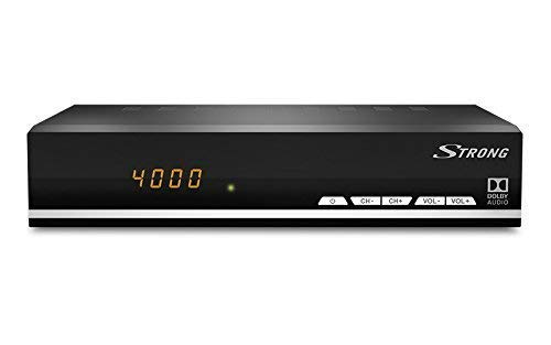 Strong SRT 7007 Ricevitore Satellitare HD Digitale DVB-S2 HD TV Free-to-Air, RSS, USB Riproduzione, Audio Digitale Nero