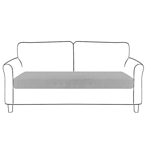 POHOVE - Funda para cojín de sofá, para asiento, ajustable y elástica, protección de muebles, para dormitorio, salón o decoración del hogar, de color verde liso, 1 asiento