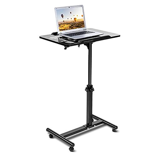 Escritorio para ordenador portátil extraíble, mesa plegable con ruedas, mesa de cama...