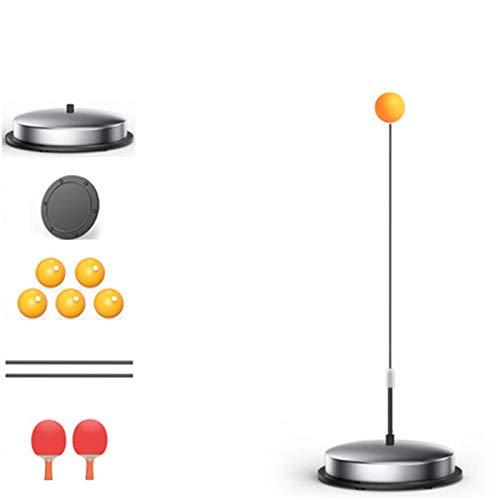 Elasticidad de mesa raquetas de tenis, pelota de entrenamiento de ventilación, dobles Mesa de ping pong entrenador del ping-pong calmante y visión Ejercicio bolas basar la práctica Kid Conjunto