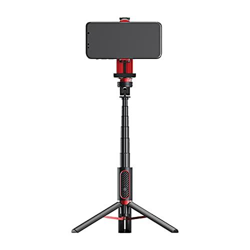 Sunbaca SEAJIC OTH-AB302 Estabilizador portátil Selfie Stick Tripé Liga de alumínio Tripé Suporte de telefone de mesa Vara selfie portátil leve com controle remoto BT destacável para câmera