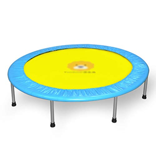 Trampolines YNN Stable Fitness Pink And Blue PVC Protective Cover Kids Entertainment Bouncer Foldable 48 Inch (Color : Blue)