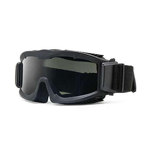 """Militär-Sonnenschutzbrille """"Alpha Ballistic"""", Airsoft-CS-Gläser, 3 Ersatzgläser, Herren, Schwarz"""