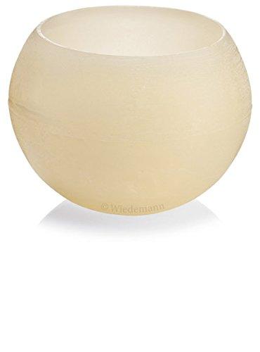 Lampion Kugel Wachslichter Beige Bisquit, 120 mm rund, Wachswindlicht für Teelichter