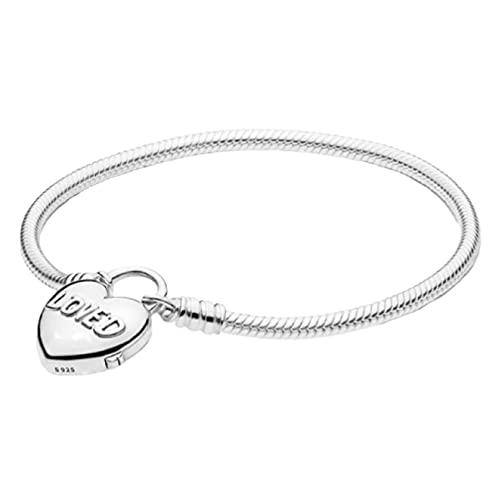 Q4S 925 Sterling Silber Schlangenkette Pfanne Armband Krone Armreif Für Frauen-L.