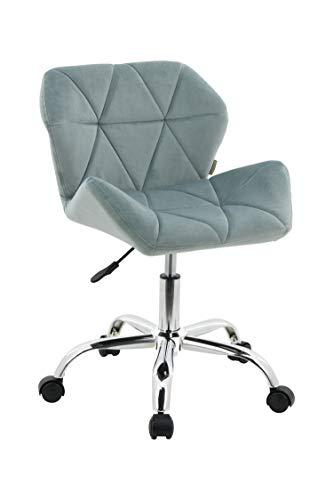 HNNHOME Modern Eris Padded Swivel Fabric Home Office Desk Computer Chair, Height Adjustable (Light Green, Velvet)