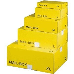 smartboxpro Versandkarton MAILBOX M 330x250x110mm gelb/anthrazit