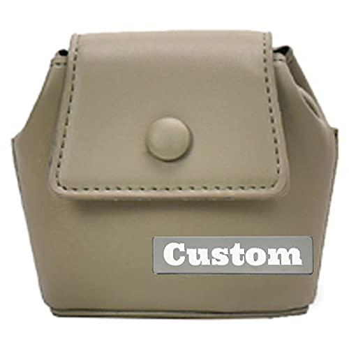 RXDZ Monedero de piel con nombre personalizado para viaje, color beige, talla única