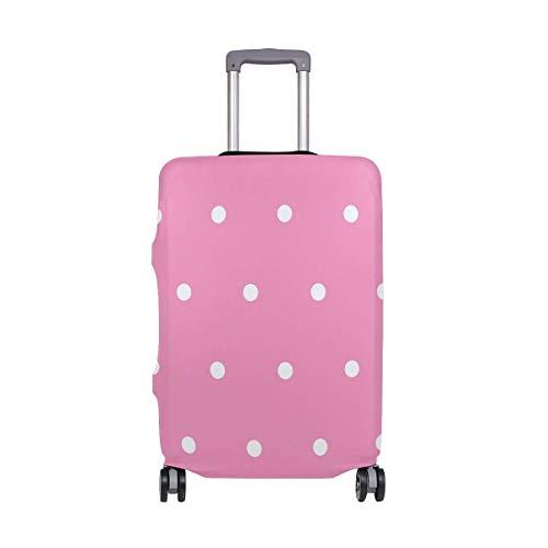 Funda de Equipaje geométrica Rosa Blanca con Lunares, Maleta de Equipaje, Protector de Viaje, Apto...