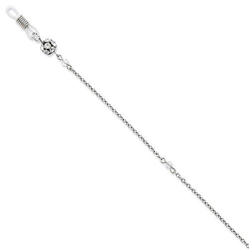 Collar de cadena con soporte para gafas de cristal transparente, tamaño 30 pulgadas para mujer
