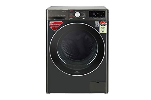 LG 7 kg Fully Automatic Front Load with In-built Heater Black(FHV1207ZWB)