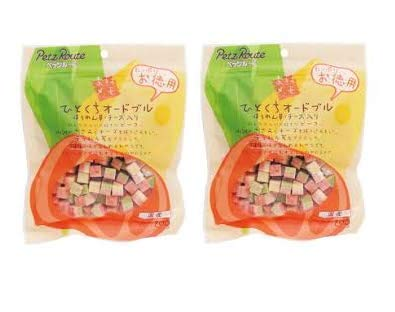 【2個まとめ買い】ペッツルート ひとくちオードブル ほうれん草チーズ お徳用 200g
