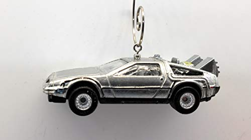 Delorean Back to The Future Car Custom Christmas Ornament