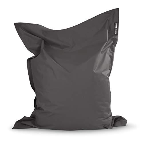 Green Bean © Square XXL Riesensitzsack Anthrazit 140x180 cm - mit 380L Füllung - waschbar, ergonomisch, extrem robust, mit Innensack - Indoor Outdoor Sitzsack für Kinder und Erwachsene