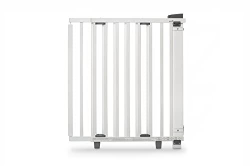 Barrière de sécurité pivotante bois blanc porte 68 à 109 cm Geuther