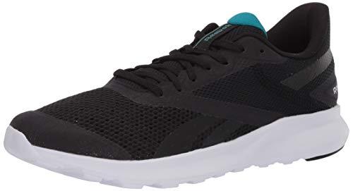 Reebok mens Reebok Speed Breeze 2.0 Running Shoe, Black/Sea Teal/Silver Metallic, 9 US