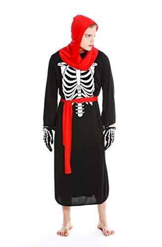 dressmeup Dress ME UP - M-0072-M Disfraz Hombre Mujer Halloween Esqueleto Huesos no-Muerto Monje Sacerdote Zombi Verdugo Demonio Talla M/L