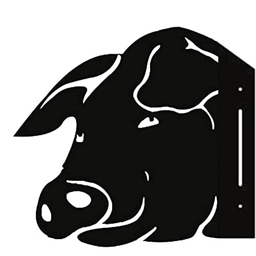 Ylight Cerdo Que Mira Furtivamente De La Granja Trabajo De Arte del Metal De La Perro Que Granja Furtivamente De La Granja 3D para La Decoración Al Aire Libre del Cortijo del Jardín