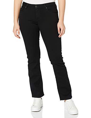 MUSTANG Damen Julia Straight Jeans, Midnight Black 490, 29W / 30L