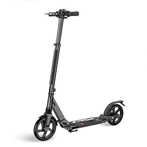 QIXIAOCYB Scooters portátiles Freestyle Doble instantáneo para llevar a cabo una altura ajustable liviana para adultos adolescentes adolescentes con freno de guardabarros trasero Brake Scooter clásico