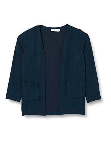 NAME IT NMFVICTI LS Knit Card L Suéter cárdigan, Azul Oscuro (Dark Sapphire), 92 cm para Niñas