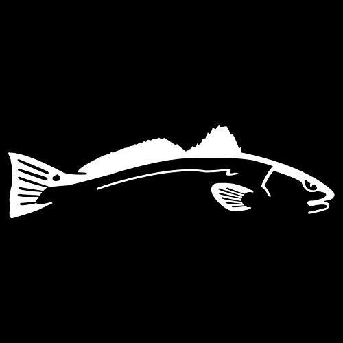 HUIHUI 18CM * 5.1CM Autoaufkleber Schwimmen Roter Fisch Autofenster Vinyl Aufkleber C24-0663-Silber