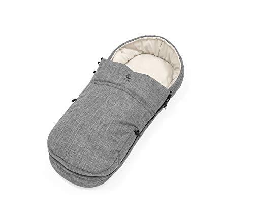 STOKKE® Softbag für Kinderwagen - wärmender Fußsack für Babys - Farbe: Black Melange