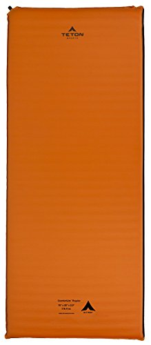 TETON Sports XXL Sleeping Pad; Sleeping Mat for Camping, Backpacking, Hiking, Orange, 78x30x2.5 inches/XXL (1043A)