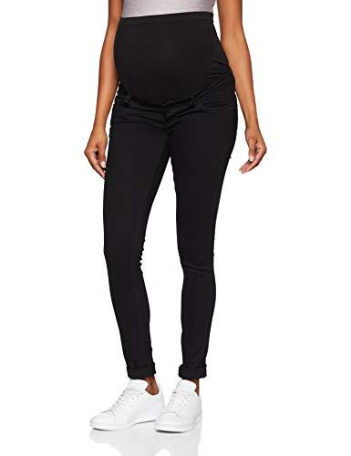 MAMALICIOUS Damen MLLOLA Slim Jeans A. Mlmercy 3/4 Woven Tunic Noos, Schwarz (Black Denim), W32/L32