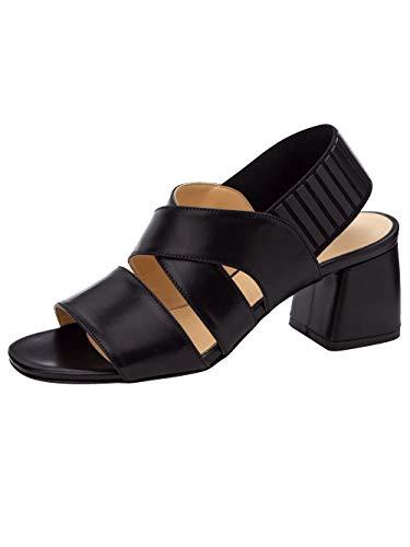 Wenz Sandale mit elastischem Fersenriemchen Schwarz