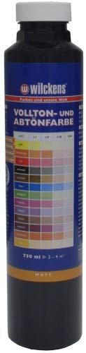 Wilckens Abtoenfarbe - Volltonfarbe / 750 ml/matt - 14 Farben zur Auswahl (Schwarz)