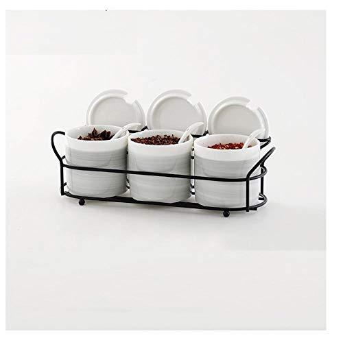 Ykun MSG Box Salzzucker MSG Gewürzbox, Aufbewahrungsbox für die Küche, Haushaltsgewürzflasche, Gewürzglas-Graues 3-teiliges Set