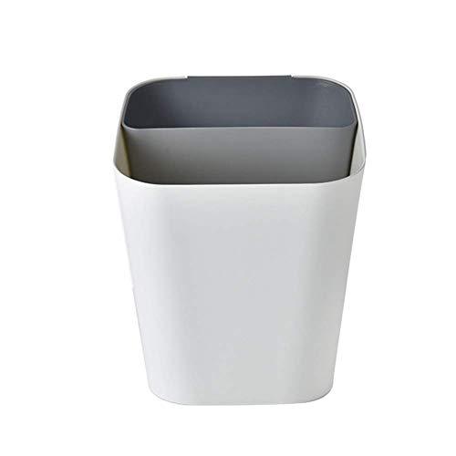 Trennung Lagerung Nass- und Trocken 2 In 1 Müll Klassifizierung Wohnzimmer Abfalleimer Küche Haushalt Müll Shaping Büro Müll Can Bento Lunch Box for Kinder (Farbe: braun) 1yess (Color : Grey)