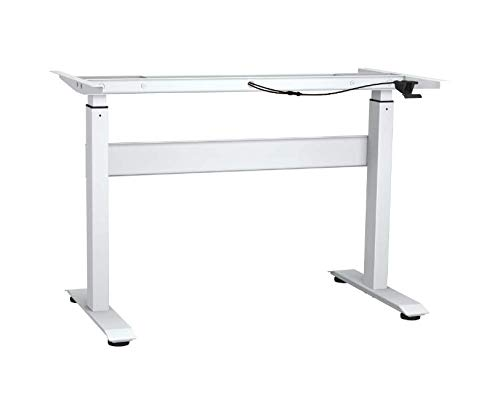 YULUKIA 100003 Height-adjustable sit and stand desk frame, with...