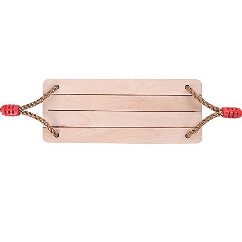 JUHUIZHE - Sedia a dondolo in legno per adulti e bambini, altalene da giardino con corda, per interni ed esterni, carico massimo 120 kg