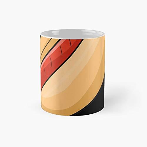 Taza clsica con diseo de perro caliente a juego con disfraz de Halloween | El mejor regalo divertidas tazas de caf de 11 onzas