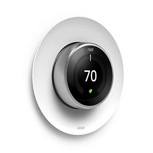 elago Satélite Cubierta Wall Plate Compatible con Nest Learning Thermostat 1st / 2nd / 3rd Generación (Blanco)
