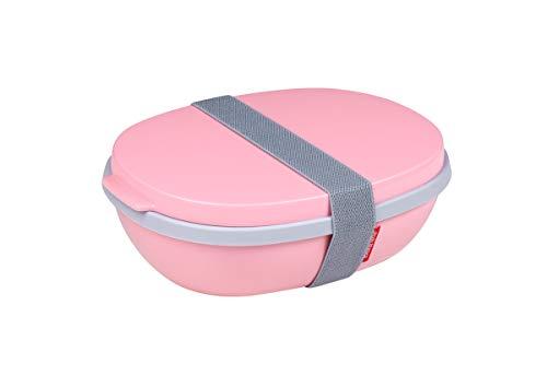 Mepal Nordic pink Lunchbox Ellipse Duo, Plastik, 22.5 x 17.5 x 7.5 cm