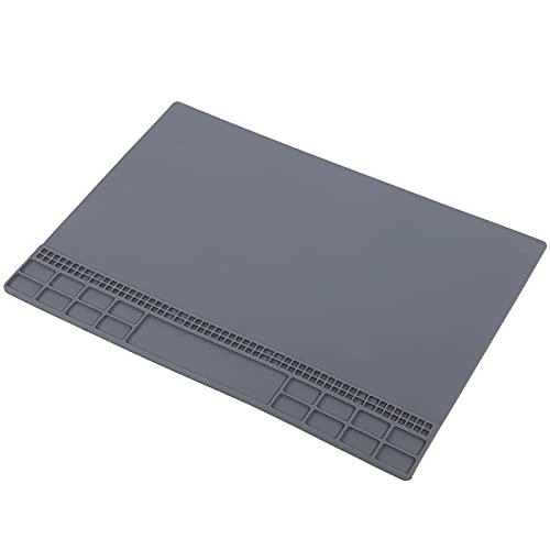 Estera del banco de trabajo, cojín de la reparación del calor de la resistencia para el hogar para la industria(grey)