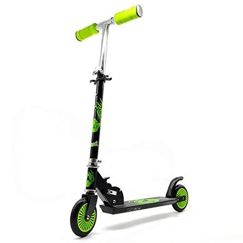2-in-1 scooter roller met 120 mm wielen met ABEC 5 carbon kogellagers en sleufglijders.