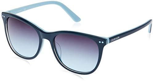 Calvin Klein CK18510S Acetate Sonnenbrille Teal/Light Blue Unisex Erwachsene Mehrfarbig, Standard