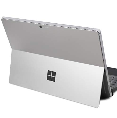 DolDer Microsoft Surface Pro 4/5/6 Skin Chrome-Soft-Silver Designfolie Sticker für Surface Pro 4/5/6