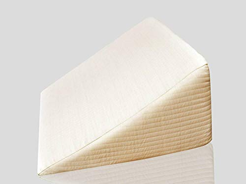 Milanino Keilkissen für Rückenstütze Lesekissen Nackenkissen Ideal für Couch Kissen für Bett und Sofa (Hautfarbe)