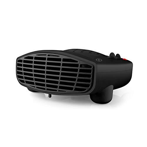 Taurus TFH3001 - Radiateur soufflant 2000W, Thermostat réglable, 3 positions de chauffage (Froid/Chaud), Surface jusqu'à 20m2, 2 puissances, Sécurité sur-chauffe, Range cordon, Noir