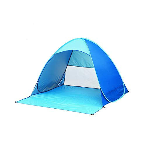 LHY DECORATION Automatic Pop Up Beach Tent Portable Anti-UV Tent for Indoor Outdoor Hiking Camping Use Sun Shelter for Family and Pets,Blue