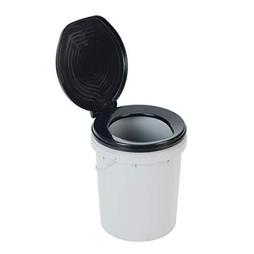 Branql Cubo Water para Camping, baño portatil, Ready Restroom Toilet Bucket Capacidad 20L con Tapa FCM-PTRR-B